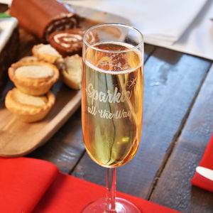 'Sparkle All The Way' Champagne Flute