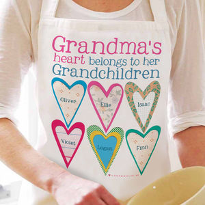 Personalised Grandma's Heart Apron