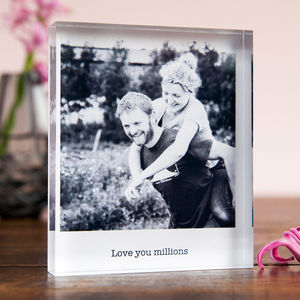 Personalised Photo Acrylic Block - picture frames for children