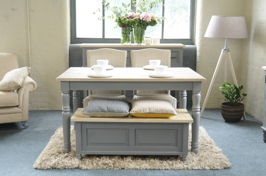 Lille Grey Painted Dining Table By The Orchard