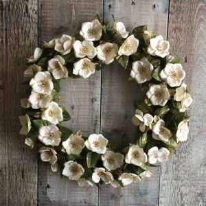 Traditional Christmas Rose Wreath - wreaths