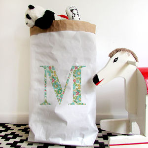 Personalised Letter Children's Paper Storage Bag - new in baby & child