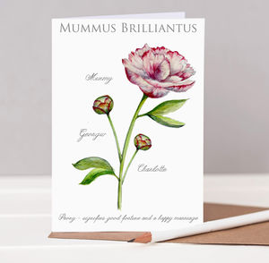 Mummus Brilliantus Peony Mother's Day Card