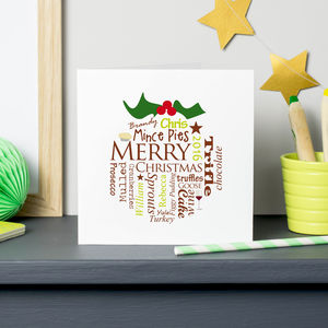 Personalised Christmas Pudding Card Pack - summer sale