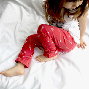 Red Leggings Arrow Print Toddler To Tween - winter sale
