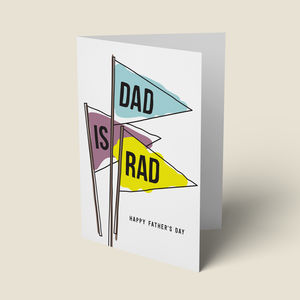 'Dad Is Rad' Fathers Day Card