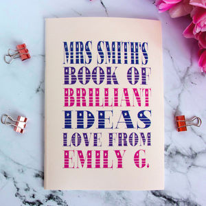 Personalised Teacher's Notebook - baby & child