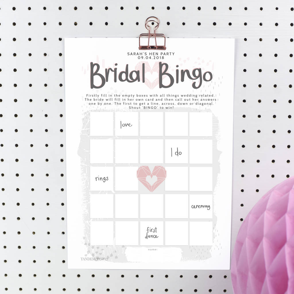 picture relating to Bridal Bingo Printable identified as Individualized Bridal Bingo Bird Bash Video game In direction of Print