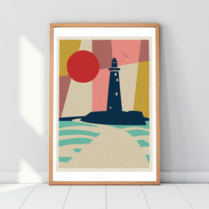 St Mary's Lighthouse Whitley Bay Art Print Poster