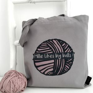 Personalised Knitting Project Bag - storage & organisers