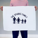 Personalised Our Family Tea Towel