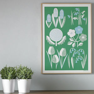 Spring Seasonal Screen Printed Wall Art