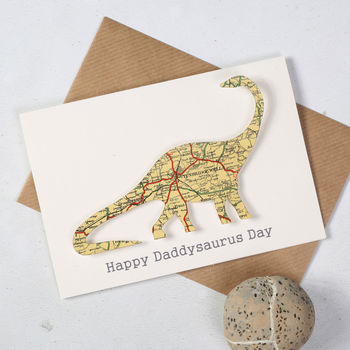 Personalised Father's Day Map Daddysaurus Card