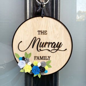 Personalised Wooden Family Sign