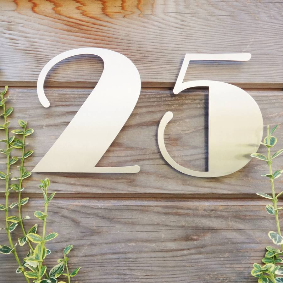 Art Deco House: Stainless Steel Art Deco House Number By Housebling