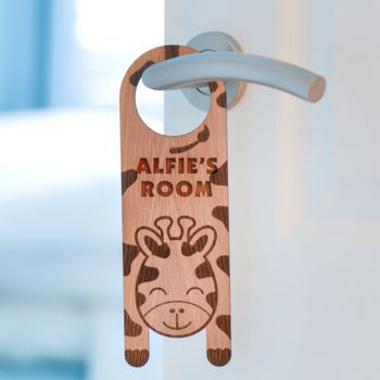 Personalised Giraffe Door Hanger
