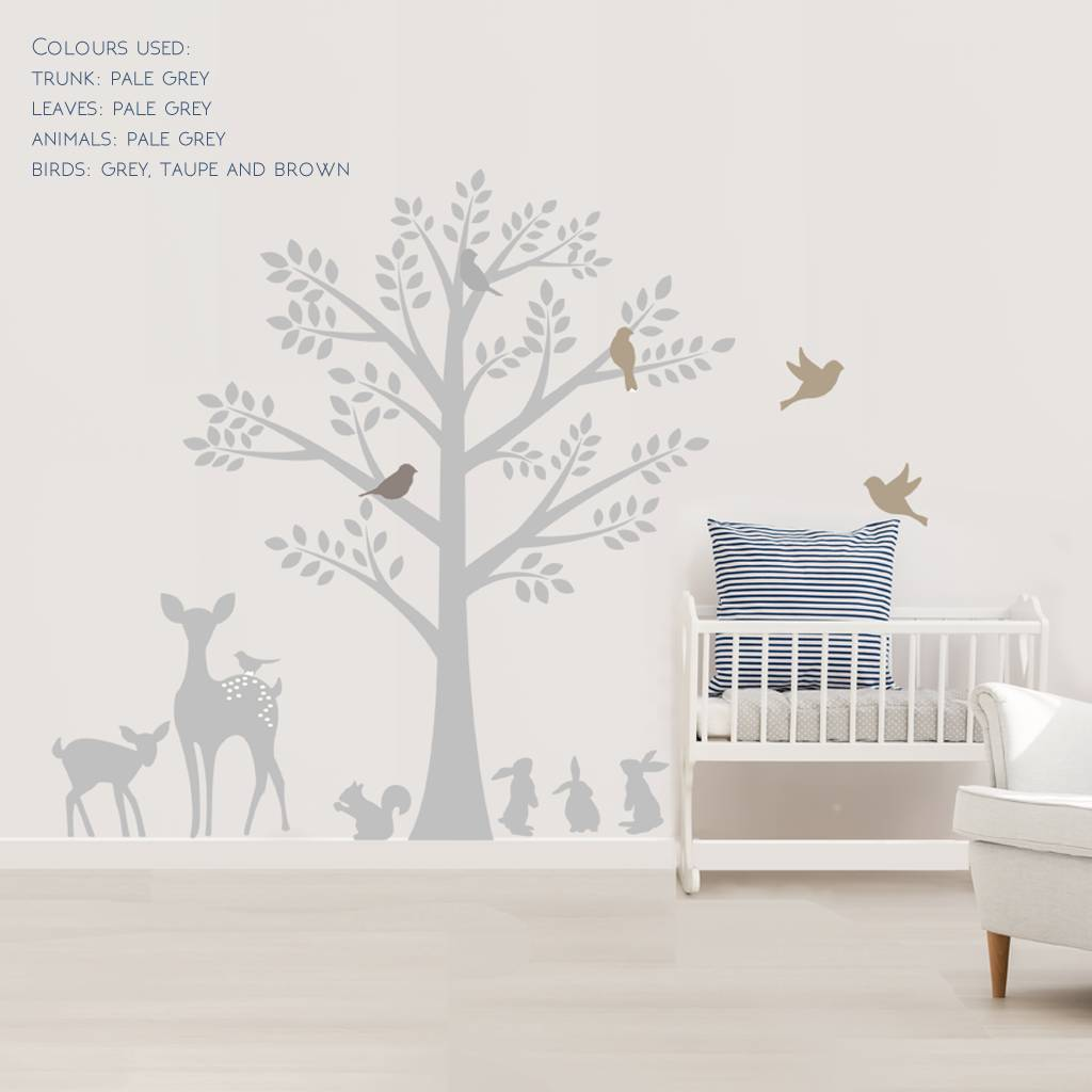 Wonderful Vintage Tree Wall Stickers   Wall Stickers Part 25
