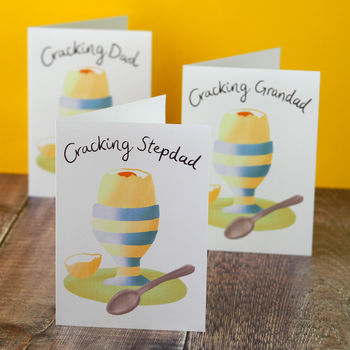 Cracking Egg Dad, Stepdad Or Grandad Card