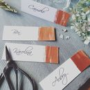 Pack Of 10 Handpainted Copper Name Place Cards