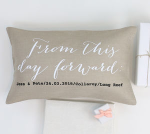 Wedding Vows Cushion - bedroom