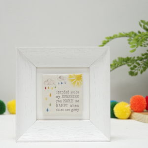 Grandad You're My Sunshine Ceramic Tiled Frame