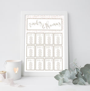 Confetti Wedding Table Plan - table plans