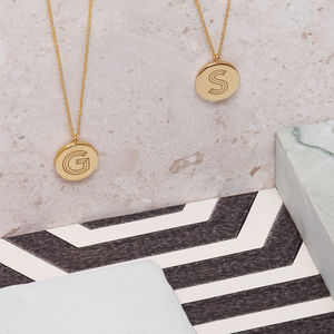 9ct Yellow Gold Facett Initial Necklace