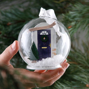 Personalised Family Door Bauble - tree decorations