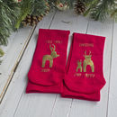 First Family Christmas Mummy And Daddy Reindeer Socks