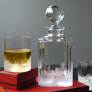 City Skyline Decanter And Tumblers - drink & barware