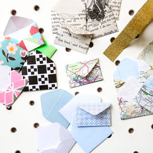 Set Of Five Mini Envelopes - living & decorating
