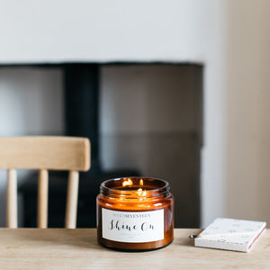 'Shine On' Wild Fig And Grape Scented Candle - find your routine