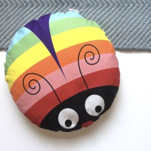 Rainbow Bug Floor Cushion - baby's room