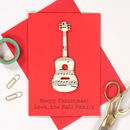 Personalised Music Lover Instrument Christmas Card