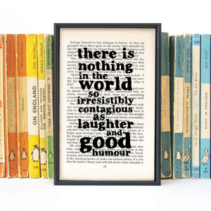 Dickens 'Laughter And Good Humour' Friend Quote Print - posters & prints