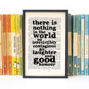 Dickens 'Laughter And Good Humour' Friend Quote Print