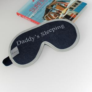 Men's Denim Luxury Personalied Eye Mask