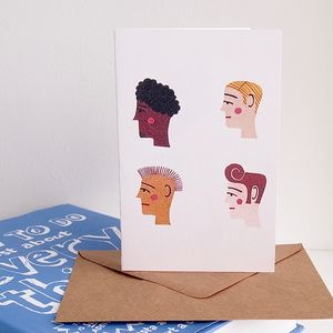Hairstyle Fashion Birthday Card - cards & wrap