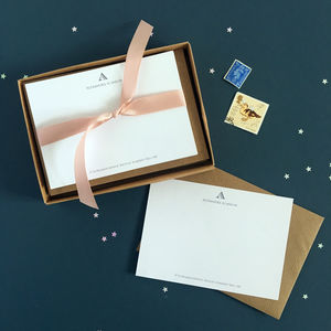 Personalised Initial Note Cards