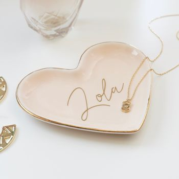 Personalised Pink Heart Trinket Dish