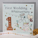 1st Wedding Anniversary Card