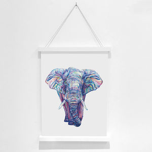 Elephant Pencil Illustration Fine Art Print