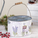 French Lavender Tin Planter