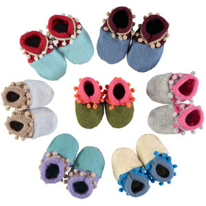 Handmade Recycled Cashmere Baby Booties - shoes & footwear