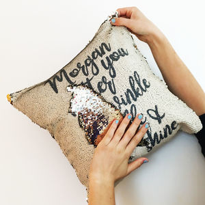 Personalised Mermaid Sequin Reveal Cushion Cover - gifts with hidden messages