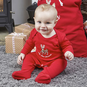 My First Christmas Baby Grow