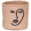 Embroidered Face Basket