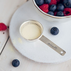 Personalised Silver Plated Protein Powder Scoop - new year detox