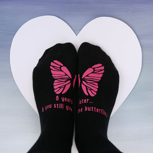 Personalised You Still Give Me Butterflies Socks - new in fashion