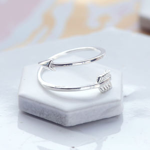Sterling Silver Arrow Ring - jewellery